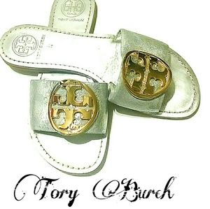 Tory Burch Authentic silver and gold sandals